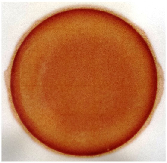 image of red dye coliform Petri 3M culture test plate